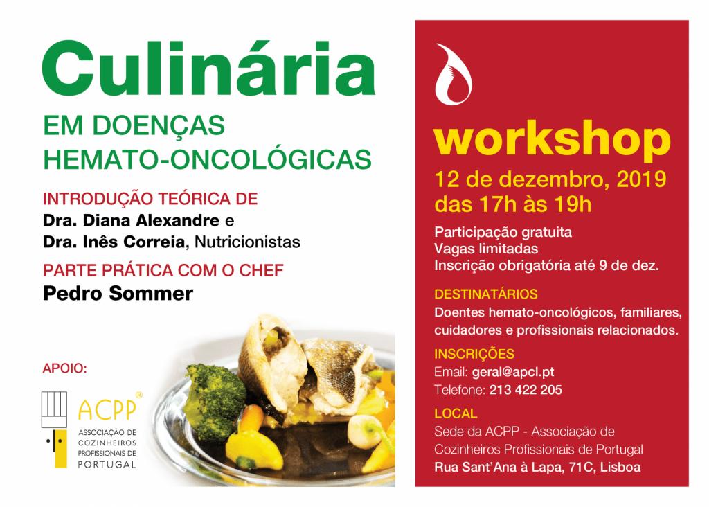 APCL - Workshop de Culinária Para doentes Hemato-oncológicos, Cuidadores e Profissionais de saúde relacionados