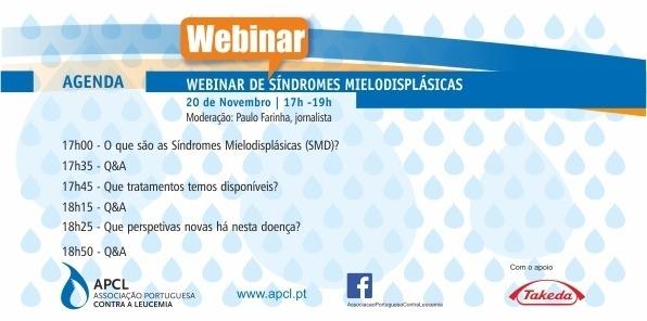 APCL - Webinar sobre Síndromes Mielodisplásicas (SMD)  decorreu no dia 20 de Novembro