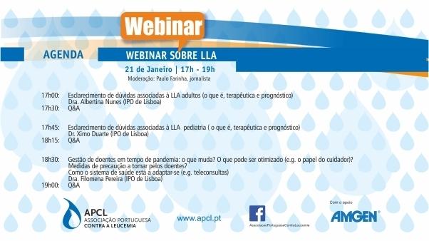 APCL - Webinar sobre Leucemia Linfoblástica Aguda (LLA)